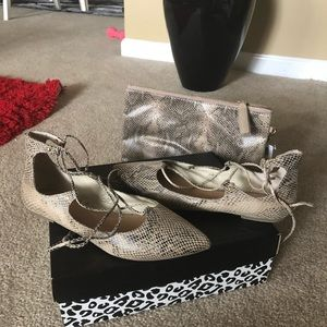 Flats with matching clutch